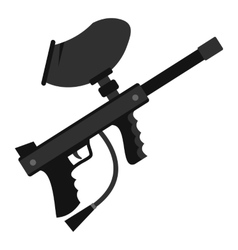 Paintball marker gun icon flat style vector