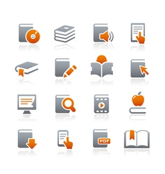 Book icons graphite series vector