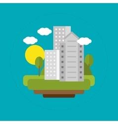 city landscape solar energy vector image