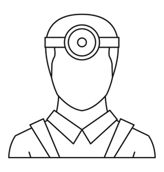 Ophthalmologist icon outline style vector