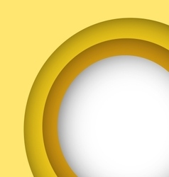Abstract yellow background with copy space vector