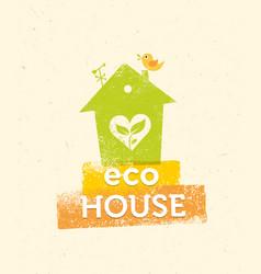 Eco house organic creative on vector