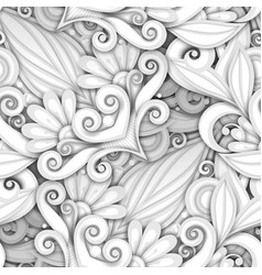 white seamless pattern with floral ornament vector image