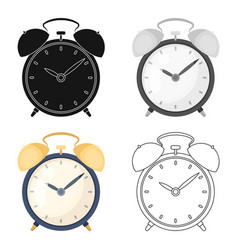 bedside clock icon in cartoon style isolated on vector image