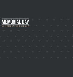 Collection stock of memorial day banner style vector