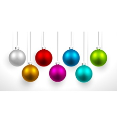 Christmas colored balls vector