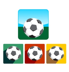 Soccer ball icon set vector