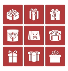 Present boxes icons set for online delivery vector