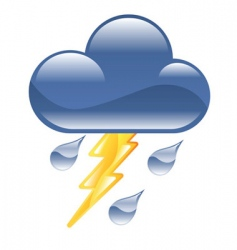 lightning storm illustration vector image