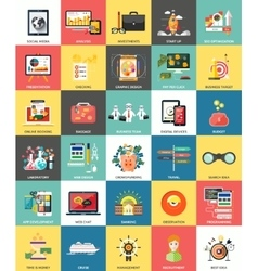 Set of business concepts icons vector image