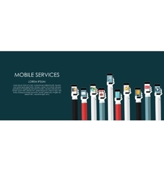 Mobile services  flat vector