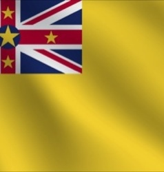 Niue flag vector
