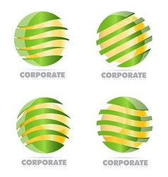 Corporate business sphere logo vector image