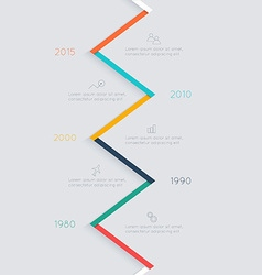 Timeline infographic design templates vector