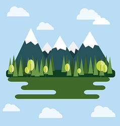 Mountain landscape at daytime vector