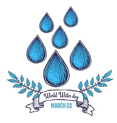 World water day poster vector