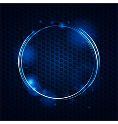 abstract mesh and glowing circle background vector image vector image