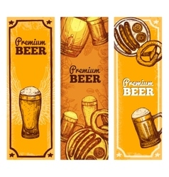 Beer banner vertical vector