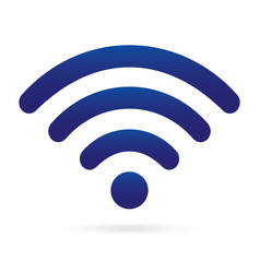 Blue wifi icon wireless symbol on isolated vector