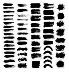 brush strokes set big vector image vector image