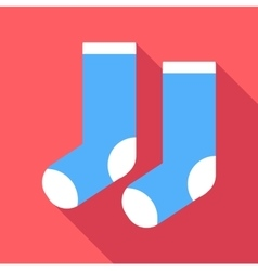 Christmas socks icon flat style vector