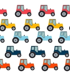 Ftat tractor seamless pattern background vector