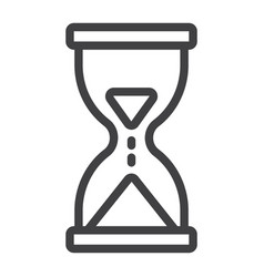 hourglass line icon web and mobile busy sign vector image vector image