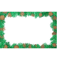 Nature horizontal background with pine branches vector