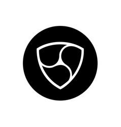 nem coin symbol logo vector image