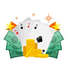 poker conceptual web banner in flat design vector image vector image