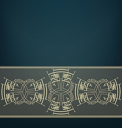 Retro Art Deco stylized background vector image vector image