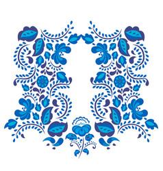 russian ornaments art gzhel style painted with vector image vector image