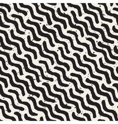 Seamless Hand Drawn Daigonal Wavy Lines vector image