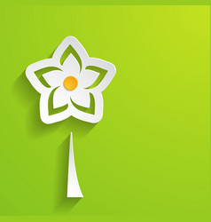 spring background with a flower vector image
