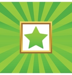 Star picture icon vector image vector image