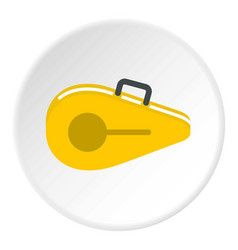Tennis bag icon circle vector