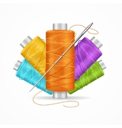 Thread Spool Set vector image