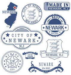 Newark city new jersey stamps and seals vector