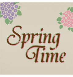 Spring time hand lettering vector