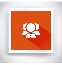 Icon of contacts for web and mobile applications vector