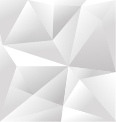 Abstract white triangle background vector