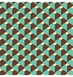 3d retro pattern vector image
