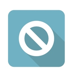 No sign square icon vector