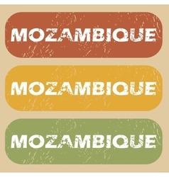 Vintage mozambique stamp set vector