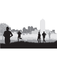 City runners vector