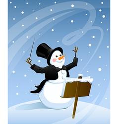 Snowman conductor vector
