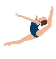 Woman girl female gymnastics move position jumping vector
