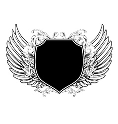 wings with shield vector image