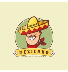 Mexican in traditional sombrero abstract vector