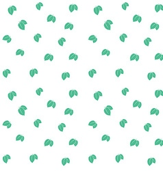 Mint leaves seamless pattern background texture vector image